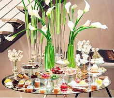 The Decadent Dessert Table is one of the indulgent, customized experiences by Jung Lee