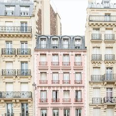 If you love pink and Paris, today's lineup is definitely for you…let's get right to it and begin with the framed art print (below) of … Paris Decor, Paris Art, Paris Images, Paris Photos, Paris Photography, Travel Photography, Building Photography, Paris Buildings, Building Aesthetic