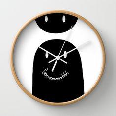 Booooh Wall Clock by Villaraco - $30.00 with a phantom. Black and white