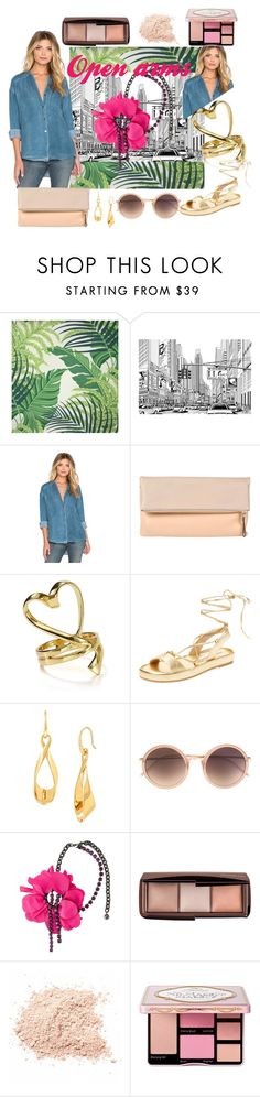 """""""My arms are open for you"""" by utitito on Polyvore featuring SANDERSON, Free People, Diane Von Furstenberg, Linda Farrow, Lanvin, Hourglass Cosmetics, women's clothing, women's fashion, women and female"""