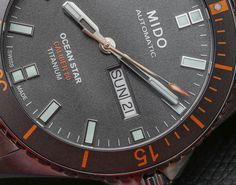 """Mido Ocean Star Captain V Titanium Watch Hands-On - by Ariel Adams - A fan of the Ocean Star? See the new titanium model now at: aBlogtoWatch.com - """"One of the surprise hits for me at Baselworld 2016 was the new Mido Ocean Star Captain V in titanium (reference M026.430.44.061.00). Mido is one of the less well-known Swatch Group brands, at least in the United States, but it has some cool watches such as the Commander and Multifort..."""""""