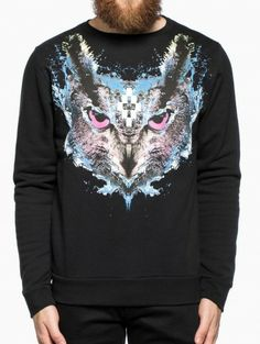 Lechuza agua sweatshirt from the F/W2014-15 Marcelo Burlon County of Milan collection in black.