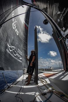 Jeremie Lecaudey/Volvo Ocean Race  Leg 6 to Auckland, day 13 on board Sun Hung Kai/Scallywag. 19 February, 2018.