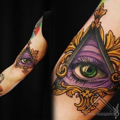 Illuminati all seeing eye tattoo