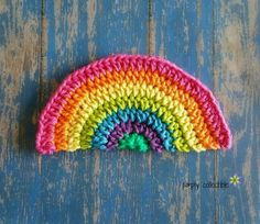 13 more rainbow #crochet patterns - washcloth by @SCCelinaLane