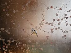 Japanese Style Murals On Gilded & Antiqued Leaf - Henry Van Der Vijver