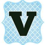 Blue_Black Letter_V