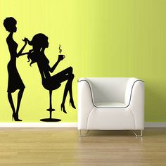Wall Vinyl Sticker Decals Decor Haircut Salon Hair Stylist Fashion Girls (z913)