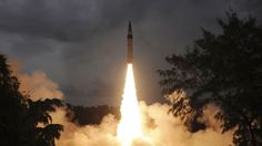 India Test-Fires Agni Nuclear-Capable Missile -- New generation of Indian-made ballistic missile is designed to cover China, not just Pakistan Arms Race, Ballistic Missile, Nuclear War, State Of The Union, Tonne, China, Us Presidents, Beijing, Assassin