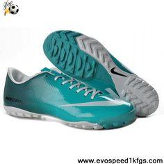 Buy New Blue White Nike Mercurial Vapor IX TF Victory 4 Futsal Jade Soccer Shoes Store