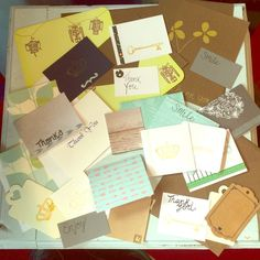 Gift wrap bundle 50 different thank you cards, envelopes, gift tags and notes. All brand new! Other