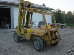 Willys Jeep forklift 2001 Jeep Wrangler, Jeep Jeep, Jeep Truck, Willis Overland, Military Jeep, Vintage Jeep, Old Jeep, Jeep Willys, Rusty Cars