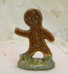 Gingerbread Man Wade Red Rose tea figurine by TreasuresFromTexas, $18.00