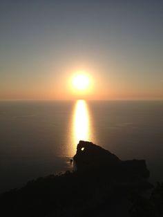 Sunset from Sa #Foradada, #Mallorca