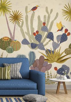 31 Unique Home Decor To Inspire and Copy # What's Decoration? Decoration could be the art of … Tropical Wallpaper, New Wallpaper, Pattern Wallpaper, Fabric Wallpaper, Unique Wallpaper, Wallpaper Decor, Deco Design, Wall Design, Mural Art
