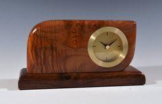 Classic beauty maple burl wood clock by SilverfoxWoodStudio
