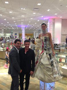 Artist Luis Valenzuela with Fashion Designer Rodriguez at Neiman Marcus. Art Basel Miami