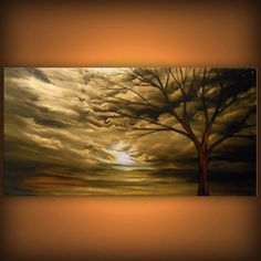 huge oversized tree painting cloud painting abstract by mattsart, $399.00