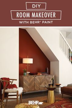 With the fall weather cooling down, now is a great time to tackle an indoor home improvement project. This DIY room makeover tutorial is full of inspiration. It uses shades like Painter's White and Red Pepper, from the new BEHR® 2020 Color Trends Palette, to refresh this cozy bohemian living room. Click below to learn more.