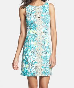'Ember' Lace Trim Cotton Sheath Dress (@nordstrom) #resort365