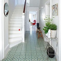 Hallway with Moroccan tiles (Coach House Home). I've always loved Moroccan tiles! Hallway Inspiration, Interior Inspiration, Style At Home, Design Case, Interior Exterior, Modern Interior, Interiores Design, Home Fashion, My Dream Home