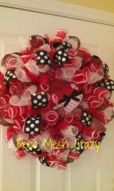 Valentine's Day Deco Mesh Wreath- http://www.facebook.com/decomeshcrazy