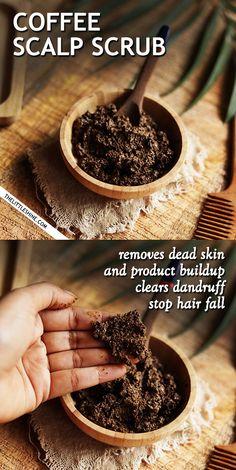 COFFEE SCALP SCRUB - remove dead skin and stimulate the scalp - The Little Shine