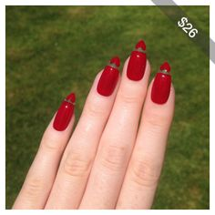 Floating Heart Red Stiletto nails, Nail designs, Nail art, Nails, Stiletto nails, Acrylic nails, Pointy nails, Fake nails