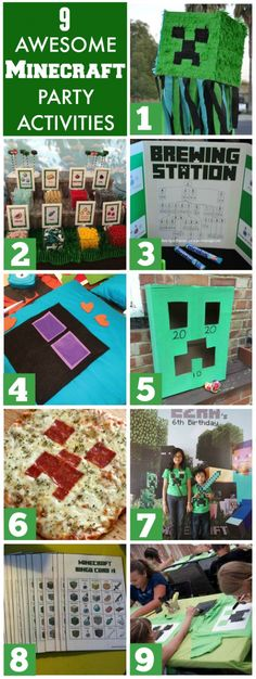 If you are looking for Minecraft party activities, read this post. There are… - Minecraft Ideas Minecraft Birthday Party, 10th Birthday Parties, Birthday Fun, Birthday Party Themes, Minecraft Party Activities, Minecraft Crafts, Minecraft Skins, Minecraft Buildings, Scouting