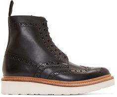 Grenson Black Leather Fred Boots