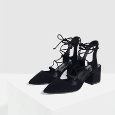 LACE-UP POINTED HIGH HEEL SHOES-SHOES-WOMAN-COLLECTION AW16 | ZARA United States