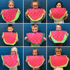 Xavier saved to stacksMini Matisse: Watermelon Weavings - Art Lessons For Kids, Art Lessons Elementary, Art For Kids, Crafts For Kids, Summer Crafts, Matisse, Spring Art, Summer Art, Classe D'art