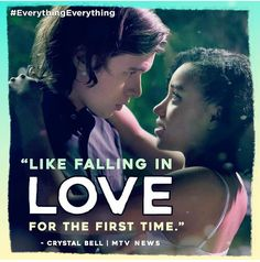 This movie is EVERYTHING! See for the first time today! Get tickets today! Tv Show Couples, Movie Couples, Nick Robinson Everything Everything, Coraline, Get Tickets, Romantic Movies, Movie Quotes, Mtv, Frases