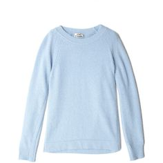 Acne Blue Micah Angora Jumper (14.770 RUB) ❤ liked on Polyvore featuring tops, sweaters, shirts, jumpers, long sleeve shirts, long sleeve crew neck sweater, blue shirt, long sleeve sweaters and blue crew neck sweater