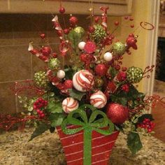 Christmas Centerpiece Idea ❤