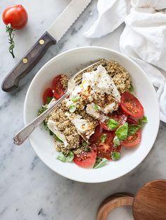 Quinoa caprese salad.