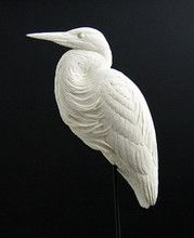 Great Blue Heron - 1/4 scaleImprove your carving and painting skills with accurate, highly detailed resin-cast reproductions by award-winning sculptor, Bob Guge. These casts are the same ones used in Bob's carving classes. If you use acrylic paints, simpl