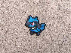 Riolu  Lucario  Mega Lucario  Pokemon  Perler Bead  Fuse Hama Beads Pokemon, Pokemon Craft, Diy Perler Beads, Perler Bead Art, Pearler Beads, Fuse Beads, Mega Lucario, Lucario Pokemon, Charmander