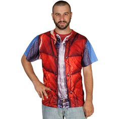 Back To The Future Marty McFly Vest T-Shirt / Costume
