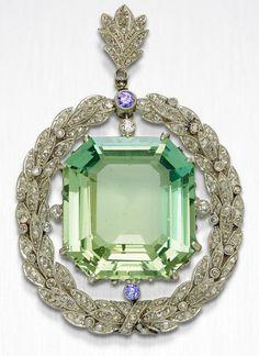 8e1c6801c 4.80ct ROSE CUT DIAMOND PERIDOT SAPPHIRE VICTORIAN LOOK 925 SILVER PENDANT  #artdeco_estate_jewels Edwardian Jewelry