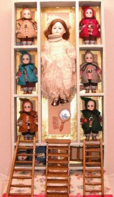 Antique T. Recknagel's Character Doll - Snow White & the 7 Dwarfs