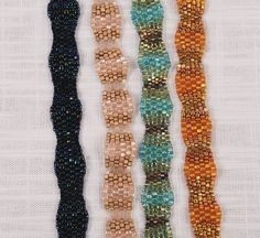 Peyote stitch triangle bead bracelets  Tutorial