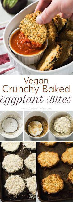 Vegan Crunchy Baked Eggplant Bites