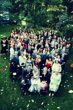 Group shot at a wedding. www.lauraward.co.uk
