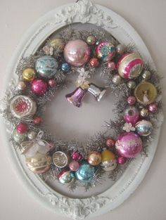 This would be a great wreath for those antique ornaments from my youth!