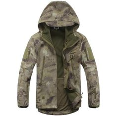Army Camouflage Coat Military Tactical Jacket Men Soft Shell Waterproof Windproof Jacket Coat Plus Size Raincoat Item Type: Outerwear & CoatsOuterwear T Camo Jacket, Military Jacket, Bomber Jacket, Jacket Men, Windbreaker Jacket, Hooded Jacket, Military Style, Military Man, Brown Jacket