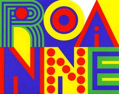 French Graphic Design | This was a design for the city of Roanne, France, to be used as a logo, for signage, and as a city flag. Designed by Pham Ngoc Tuan, France before 1976.