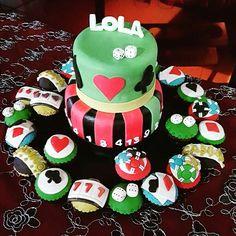 Así celebraron su cumpleaños con lo que realmente le gusta.  #cupcakes #cupcakegourmet #EnTusMejoresMomentos #casino #blackjack #poker pzo #poz #puertoordaz #ciudadguayana #madgalenas #igersguayana #cumpleaños #happybirthday