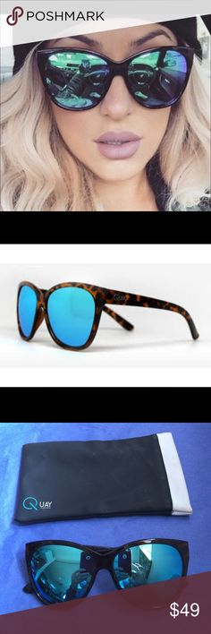 """1 HR SALE! QUAY """"About Last Night"""" Sunglasses  QUAY AUSTRALIA  THESE ARE THE BEST!! A GORGEOUS Pair of Trendy Tortoiseshell Sunglasses """"About Last Night"""" QUAY with Blue Reflective Lenses✨Includes Case!! Very Lightly Worn. EUC  ***PRICE FIRM UNLESS BUNDLED*** Quay Australia Accessories Sunglasses"""