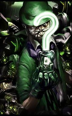 The riddler tag. The Riddler